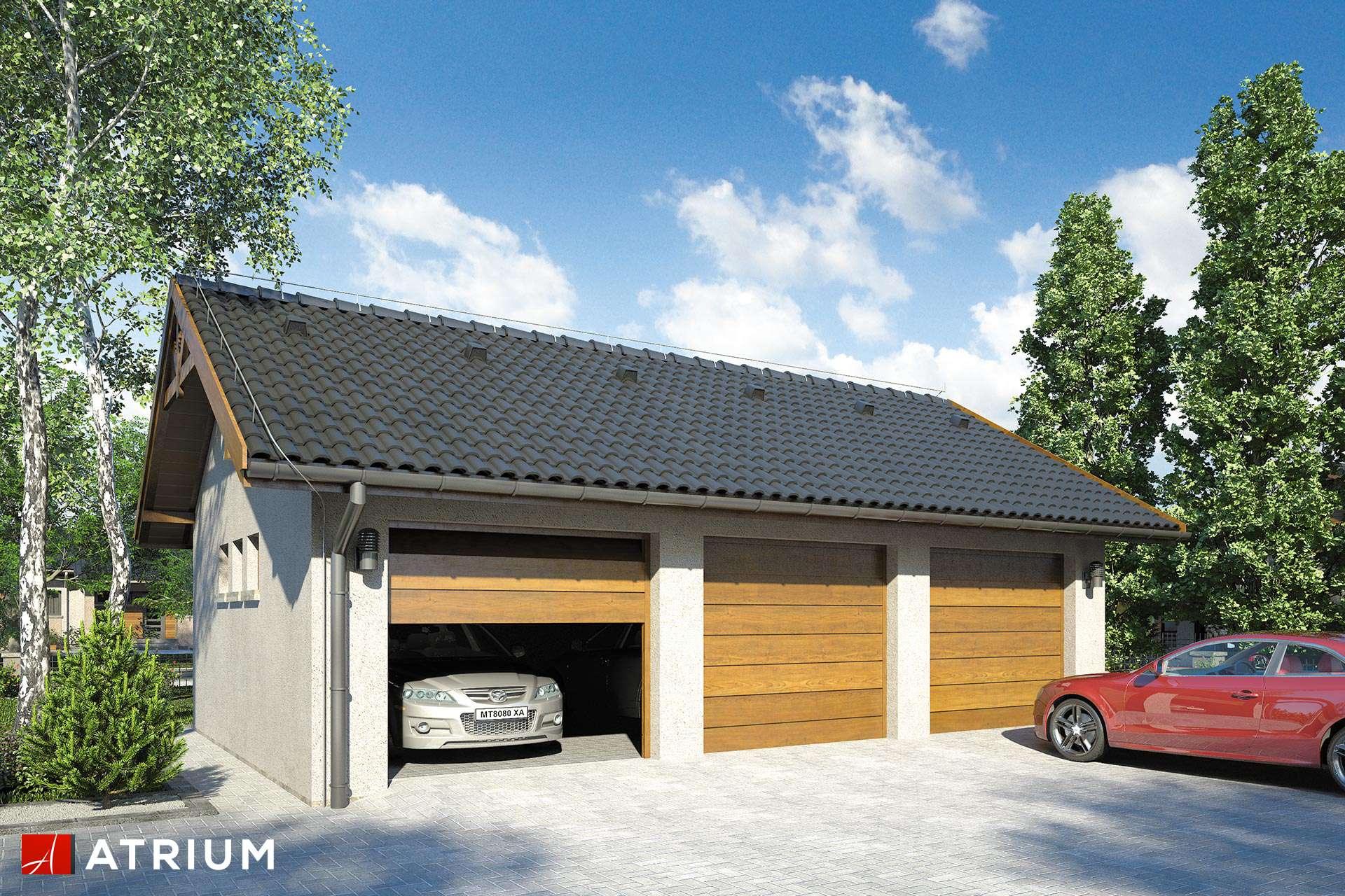 Projekt Garażu Z 21 Garaż Trzystanowiskowy Parterowy Studio Atrium