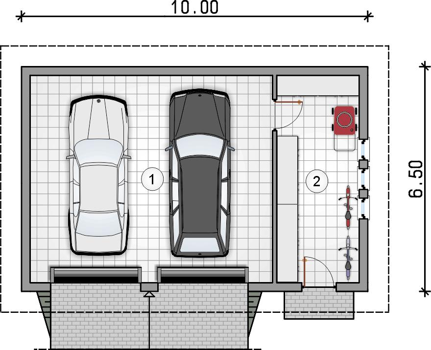 rzut parteru - Garaż Z 22