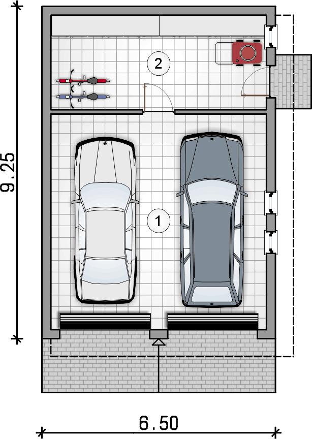rzut parteru - Garaż Z 23