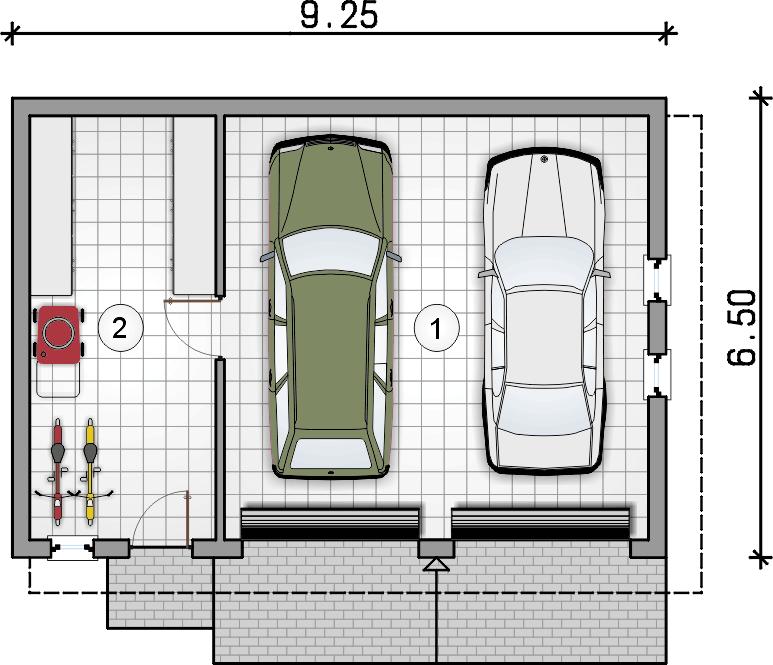 rzut garażu - Garaż Z 24
