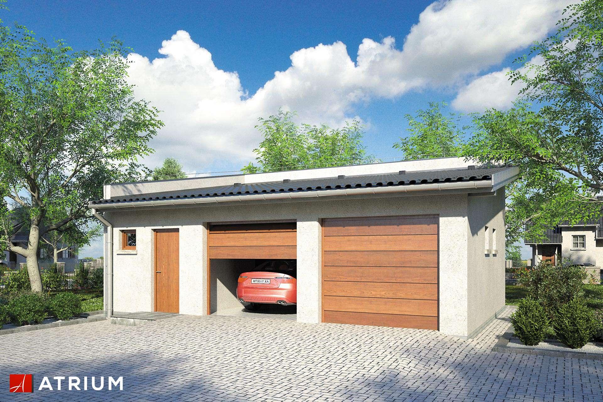 Projekt Garażu Z 24 Garaż Dwustanowiskowy Z Pom Gospodarczym