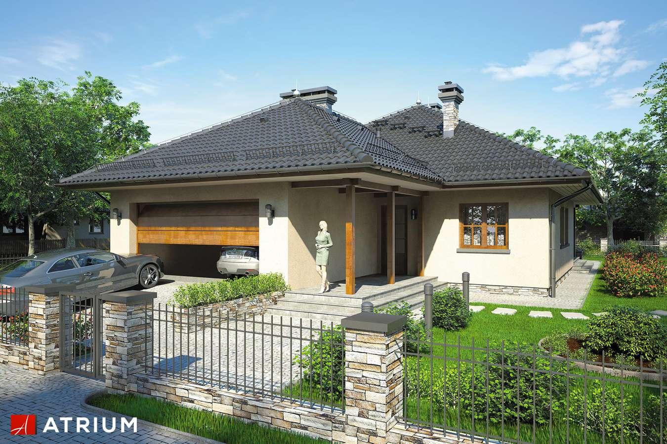 Projekt domu z poddaszem DęBOWIEC - wizualizacja 1