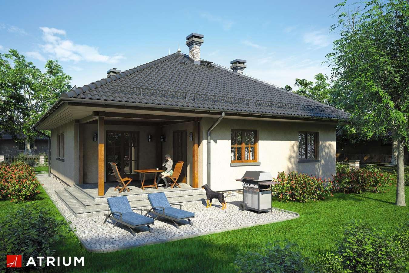 Projekt domu z poddaszem DęBOWIEC - wizualizacja 2