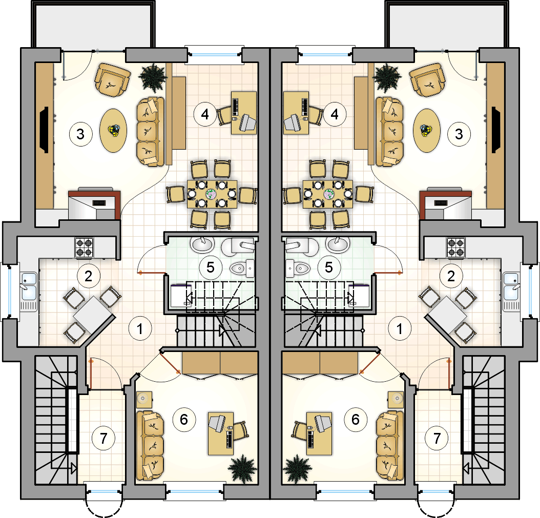 Rzut piętra - projekt 4You