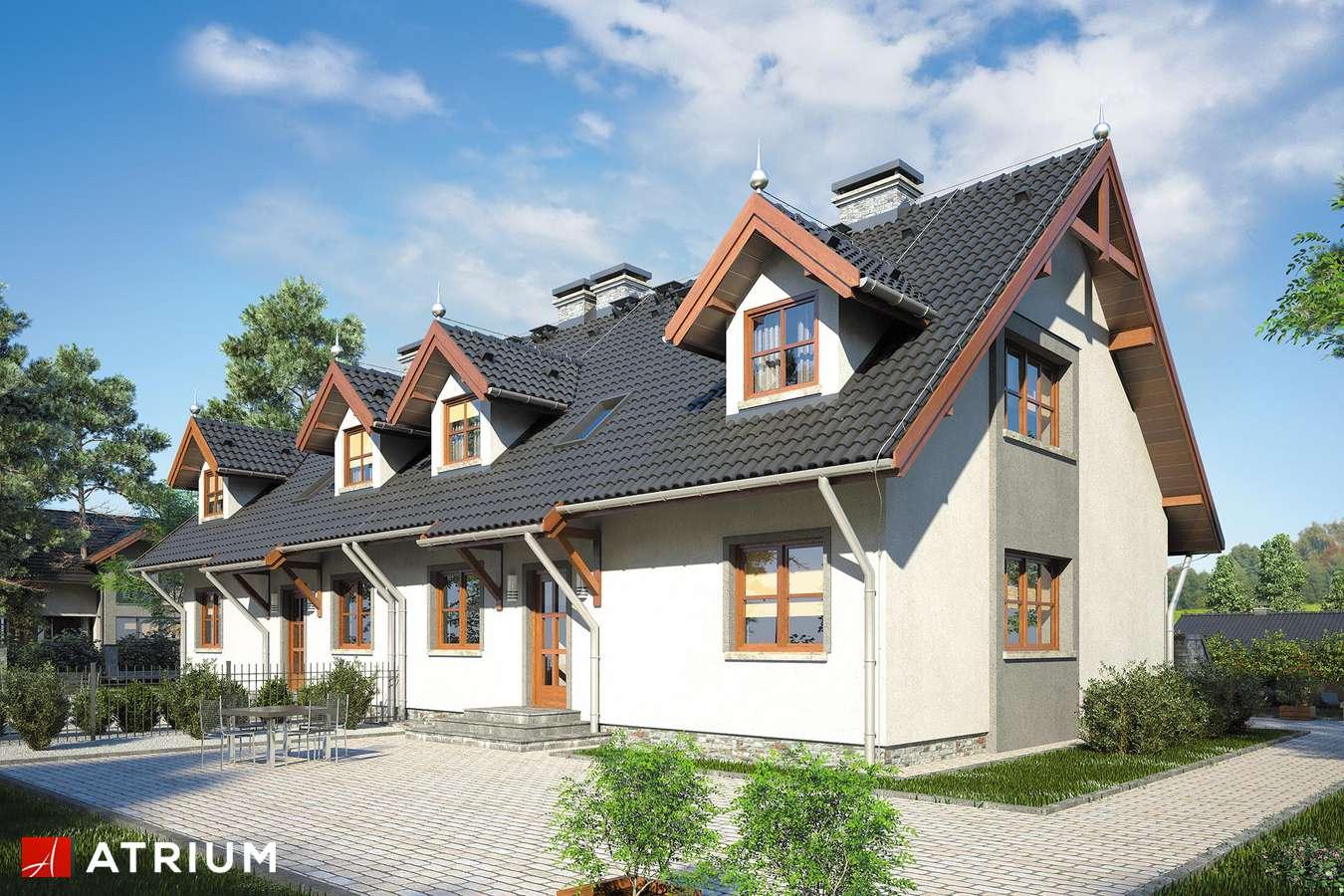 Projekty domów - Projekt domu z poddaszem MAREK I WACEK - wizualizacja 2