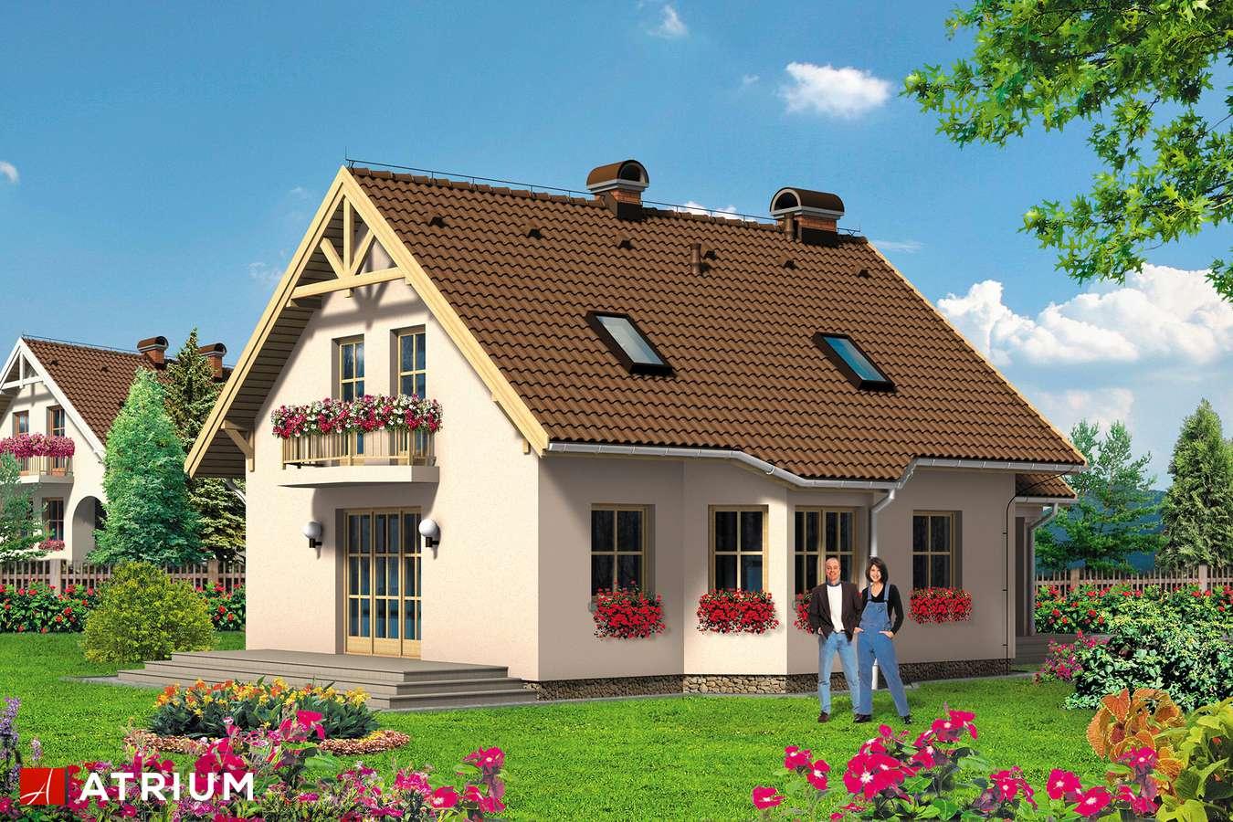 Projekty domów - Projekt domu z poddaszem MAKSIU PLUS - wizualizacja 2
