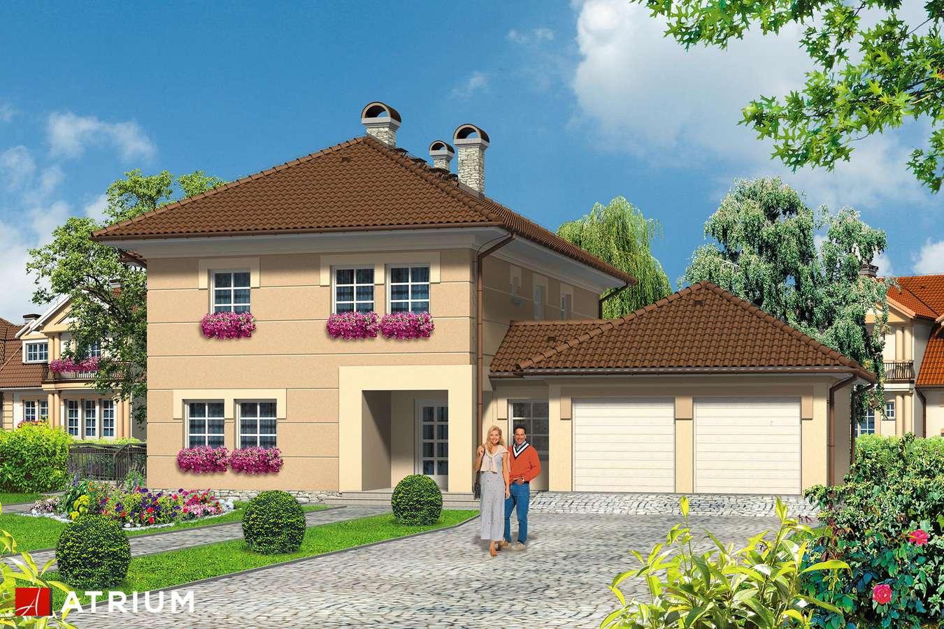 Projekty domów - Projekt domu piętrowego VILLA MEDICA - wizualizacja 1