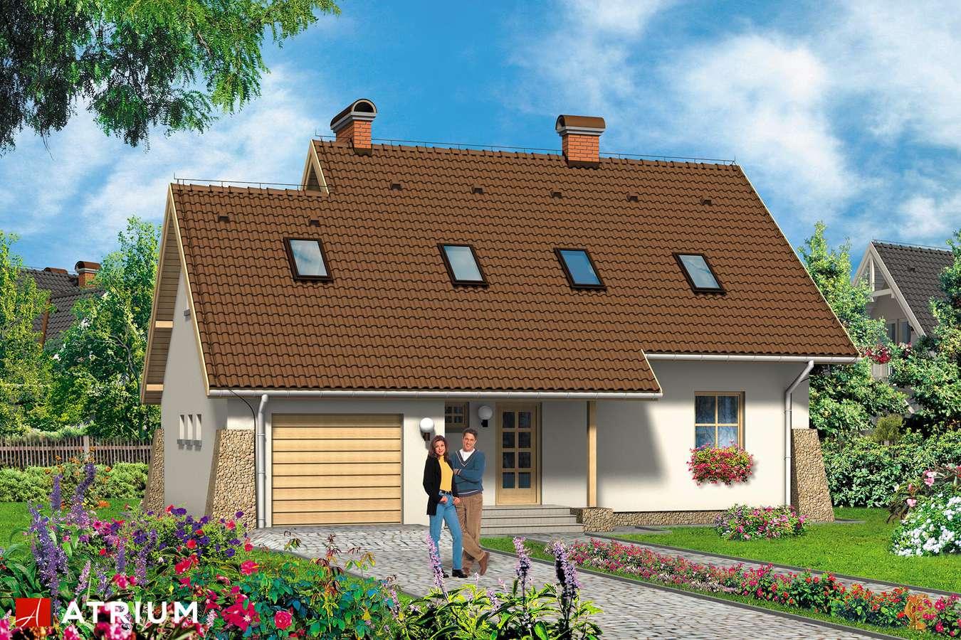 Projekty domów - Projekt domu z poddaszem ROLEKS - wizualizacja 1