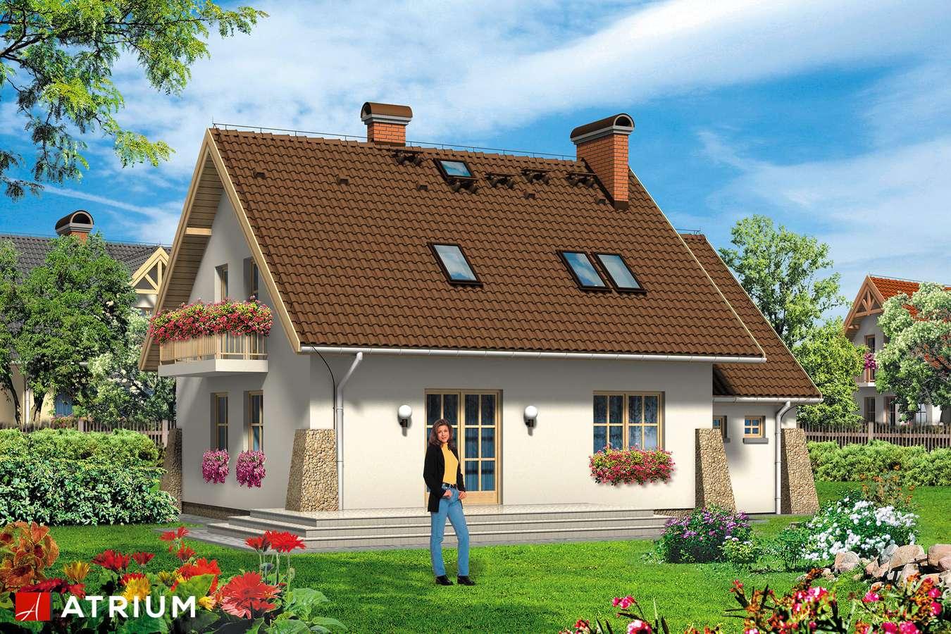 Projekty domów - Projekt domu z poddaszem ROLEKS - wizualizacja 2