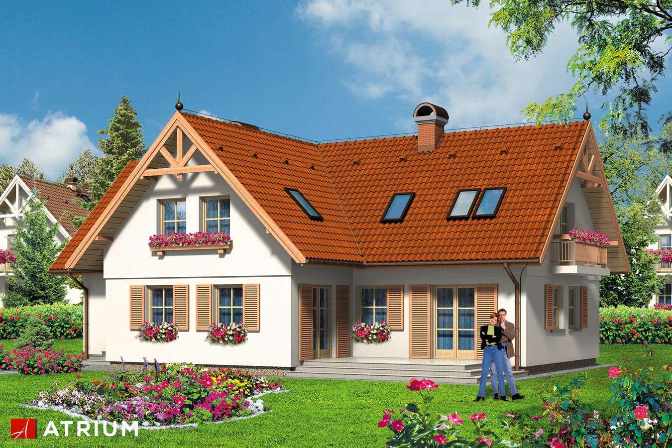 Projekty domów - Projekt domu z poddaszem DOMINIKA - wizualizacja 1