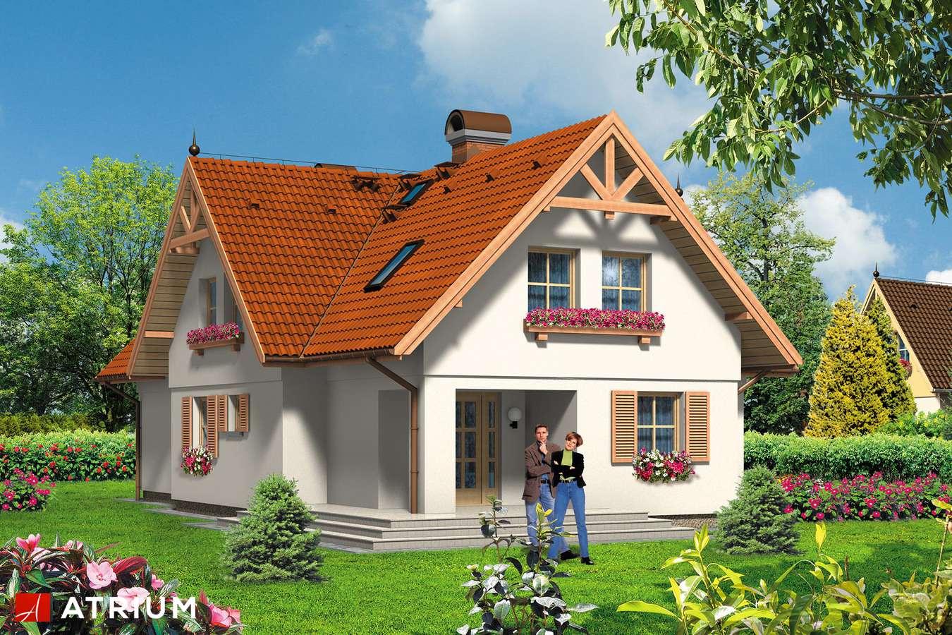 Projekty domów - Projekt domu z poddaszem DOMINIKA - wizualizacja 2