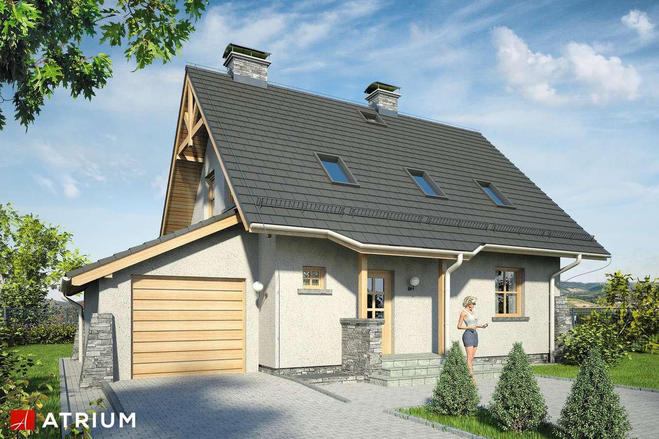 Projekty domów - Projekt domu z poddaszem ADA PLUS - wizualizacja 1
