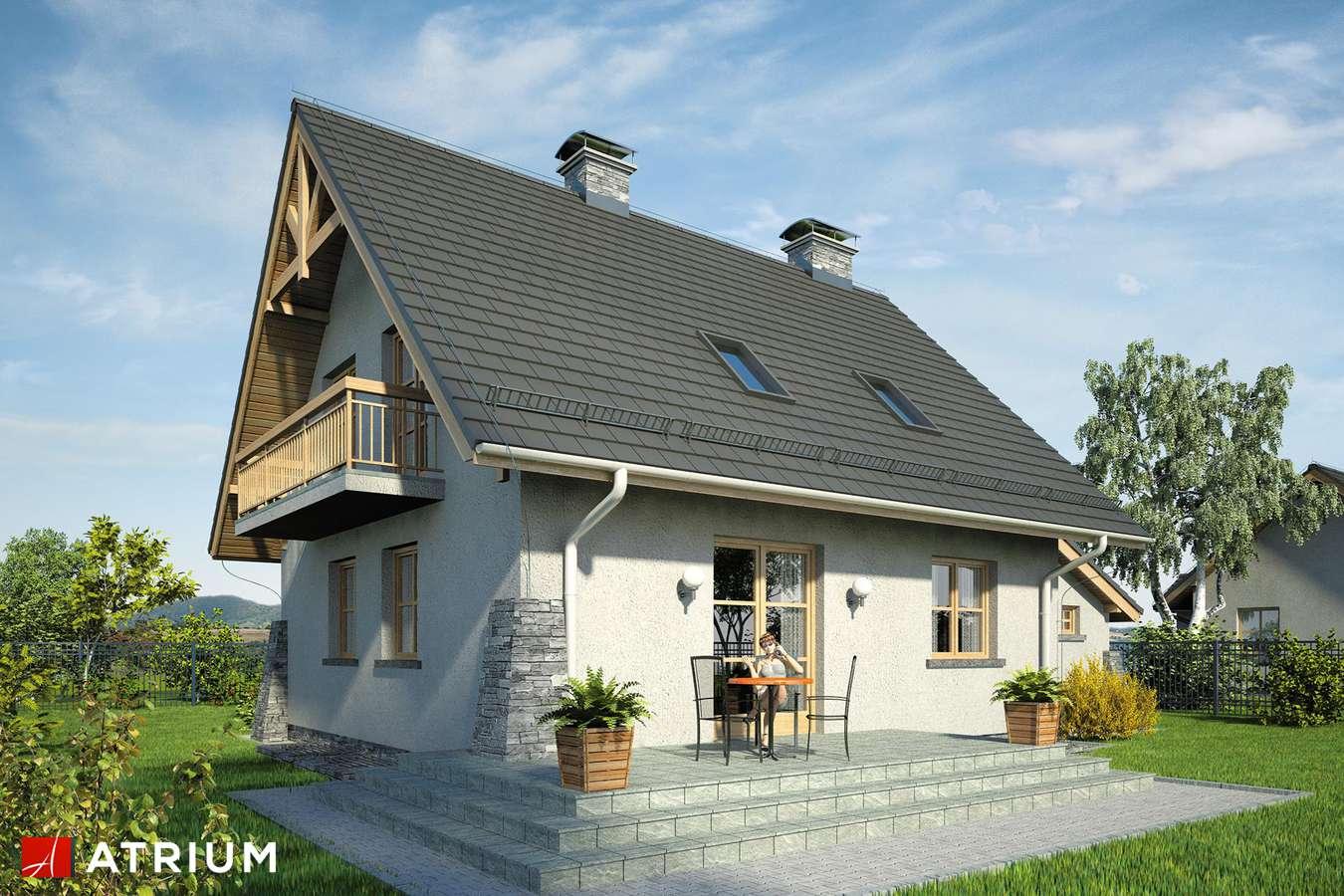 Projekty domów - Projekt domu z poddaszem ADA PLUS - wizualizacja 2