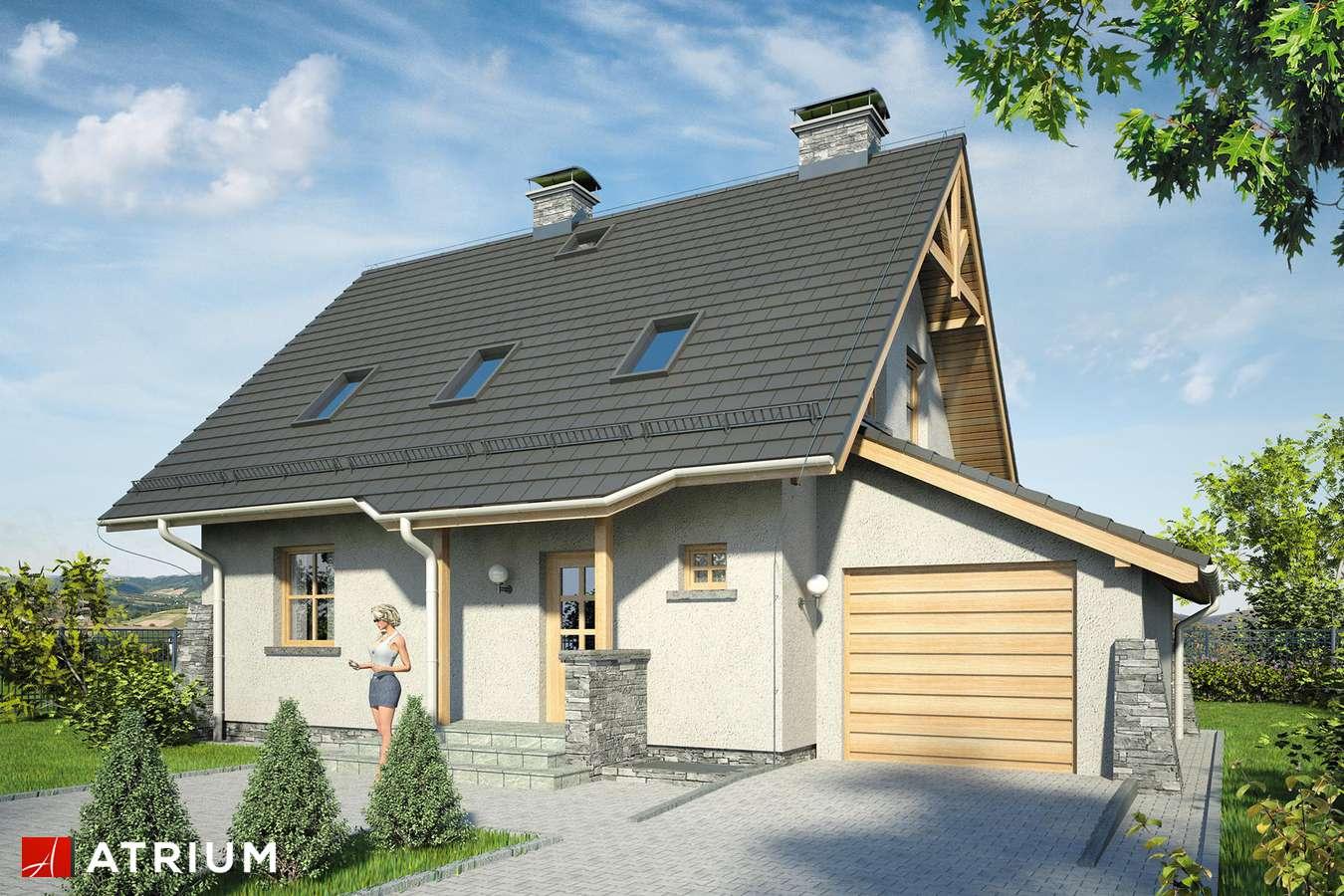 Projekty domów - Projekt domu z poddaszem ADA PLUS - wizualizacja 1 - wersja lustrzana