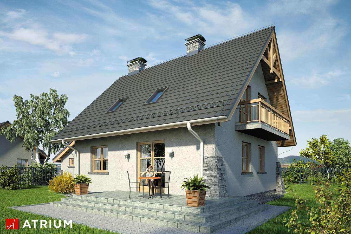 Projekty domów - Projekt domu z poddaszem ADA PLUS - wizualizacja 2 - wersja lustrzana