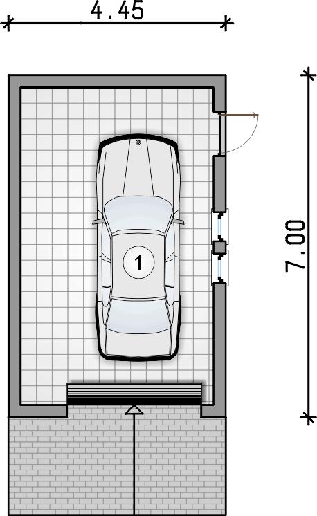 rzut parteru - Garaż Z 25
