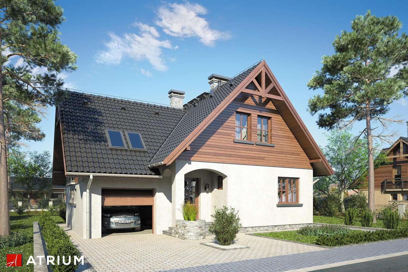 Projekty domów - Projekt domu z poddaszem MUCHOMOREK - wizualizacja 1