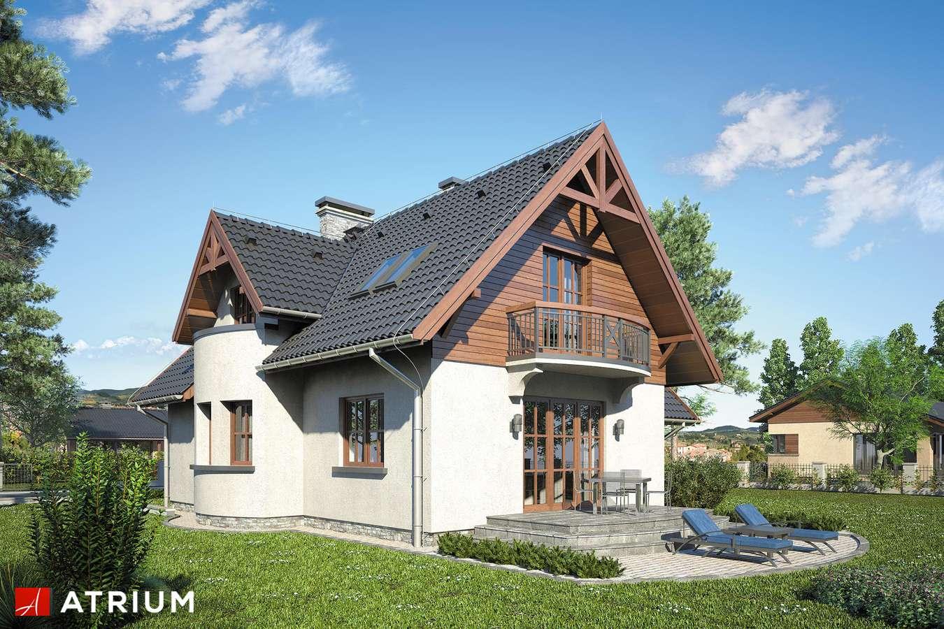 Projekty domów - Projekt domu z poddaszem MUCHOMOREK - wizualizacja 2