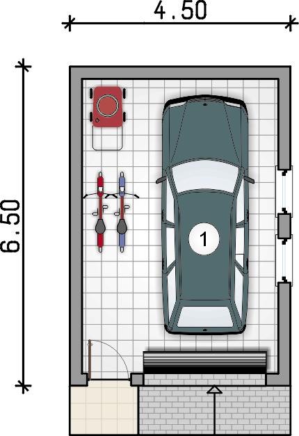 Rzut garażu - Garaż Z 26