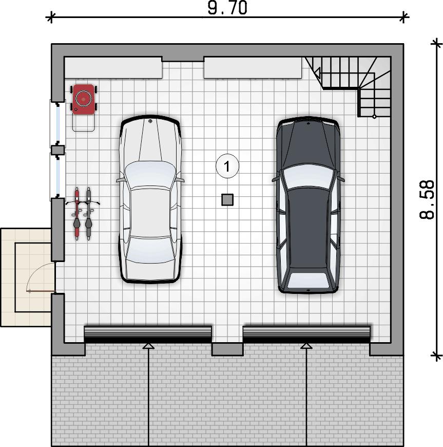 rzut parteru - Garaż Z 27