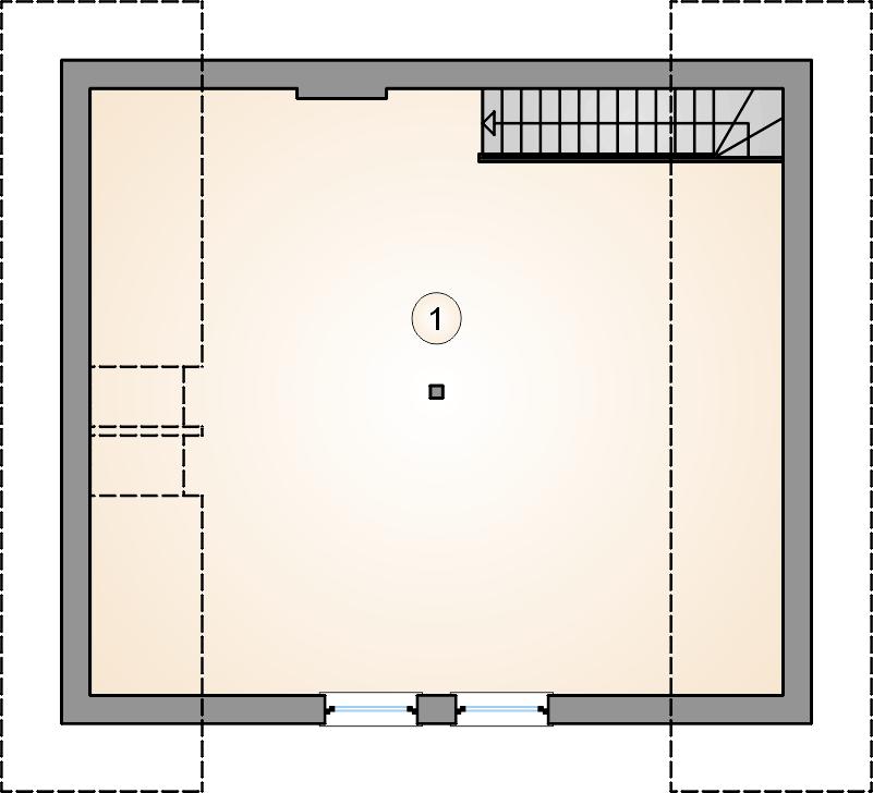 rzut poddasza - Garaż Z 27