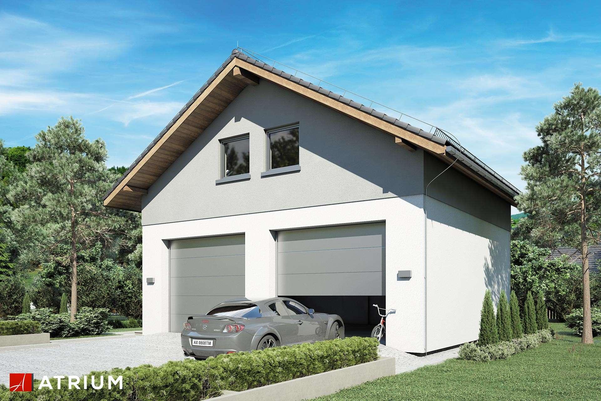 Projekt Garażu Z 27 Garaż Dwustanowiskowy Parterowy Z Poddaszem