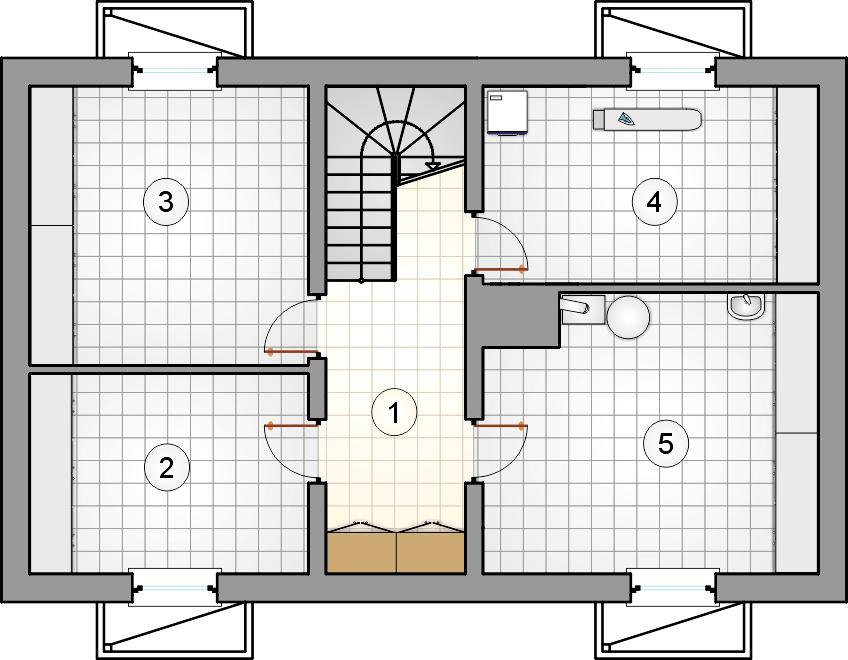 Rzut piwnicy - projekt Wilga II