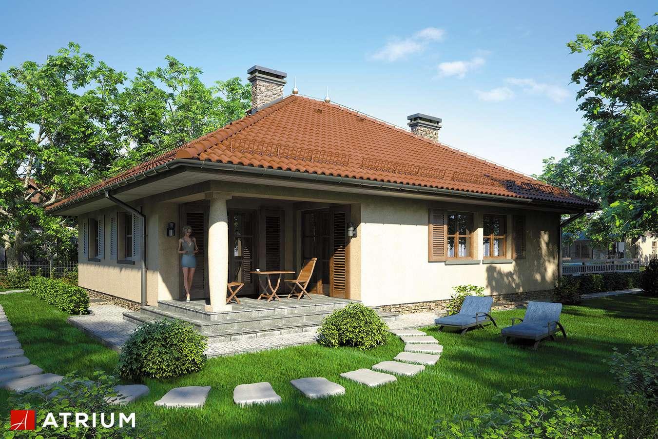Projekty domów - Projekt domu parterowego KALIFORNIA II - wizualizacja 2