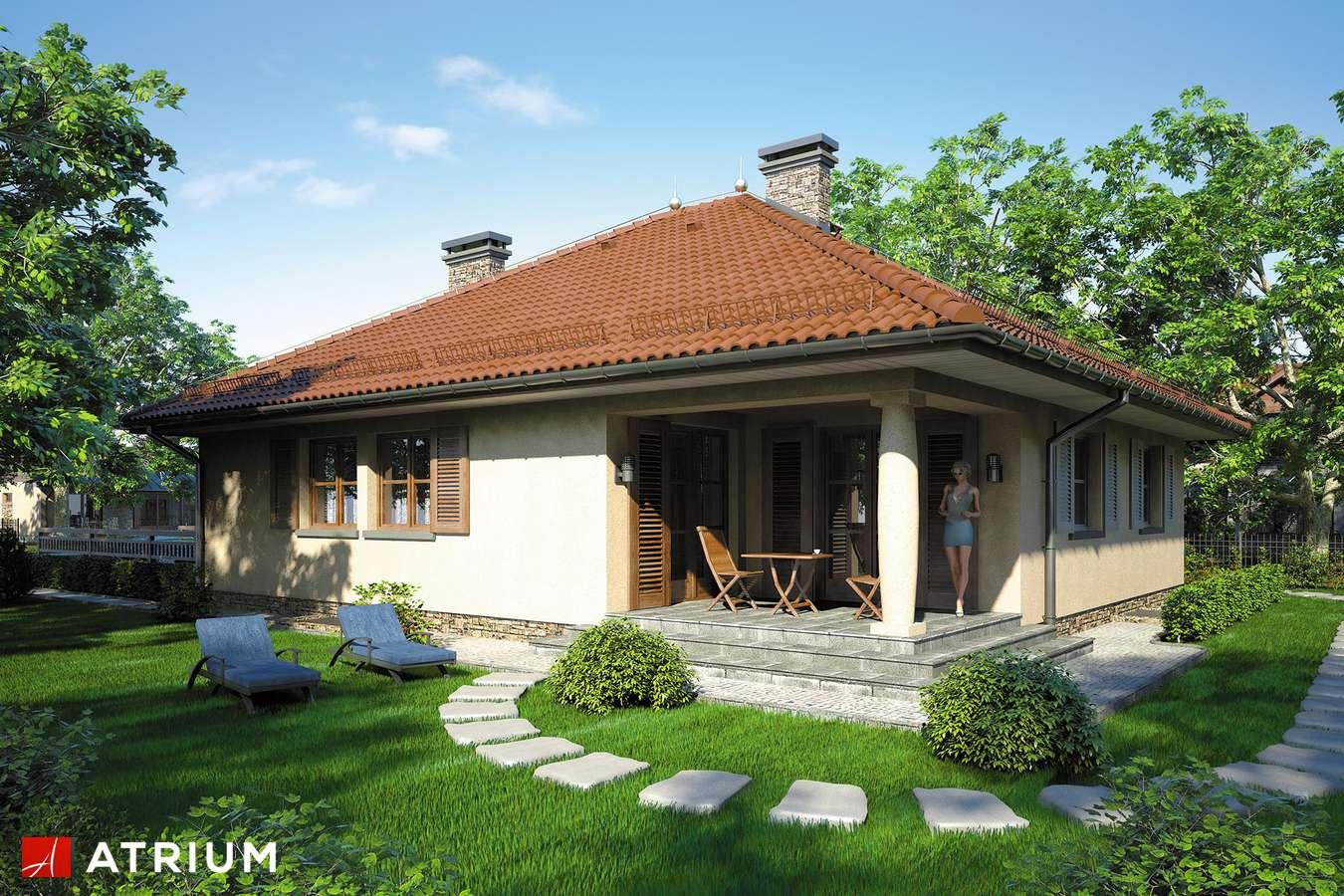 Projekty domów - Projekt domu parterowego KALIFORNIA II - wizualizacja 2 - wersja lustrzana