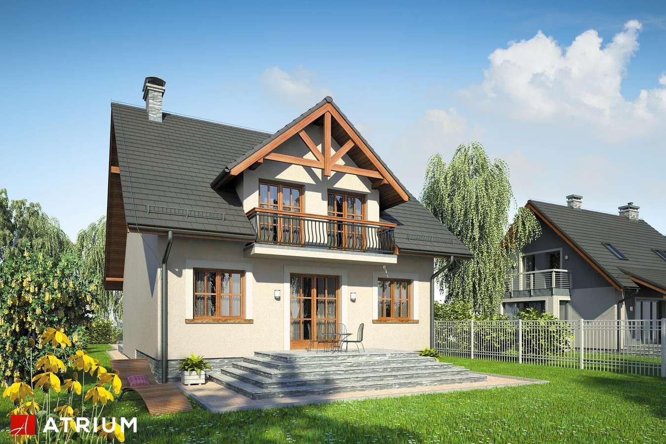 Projekty domów - Projekt domu z poddaszem KANON II - wizualizacja 2