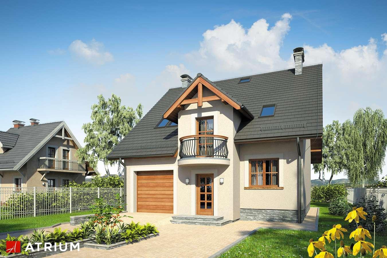 Projekty domów - Projekt domu z poddaszem KANON II - wizualizacja 1 - wersja lustrzana