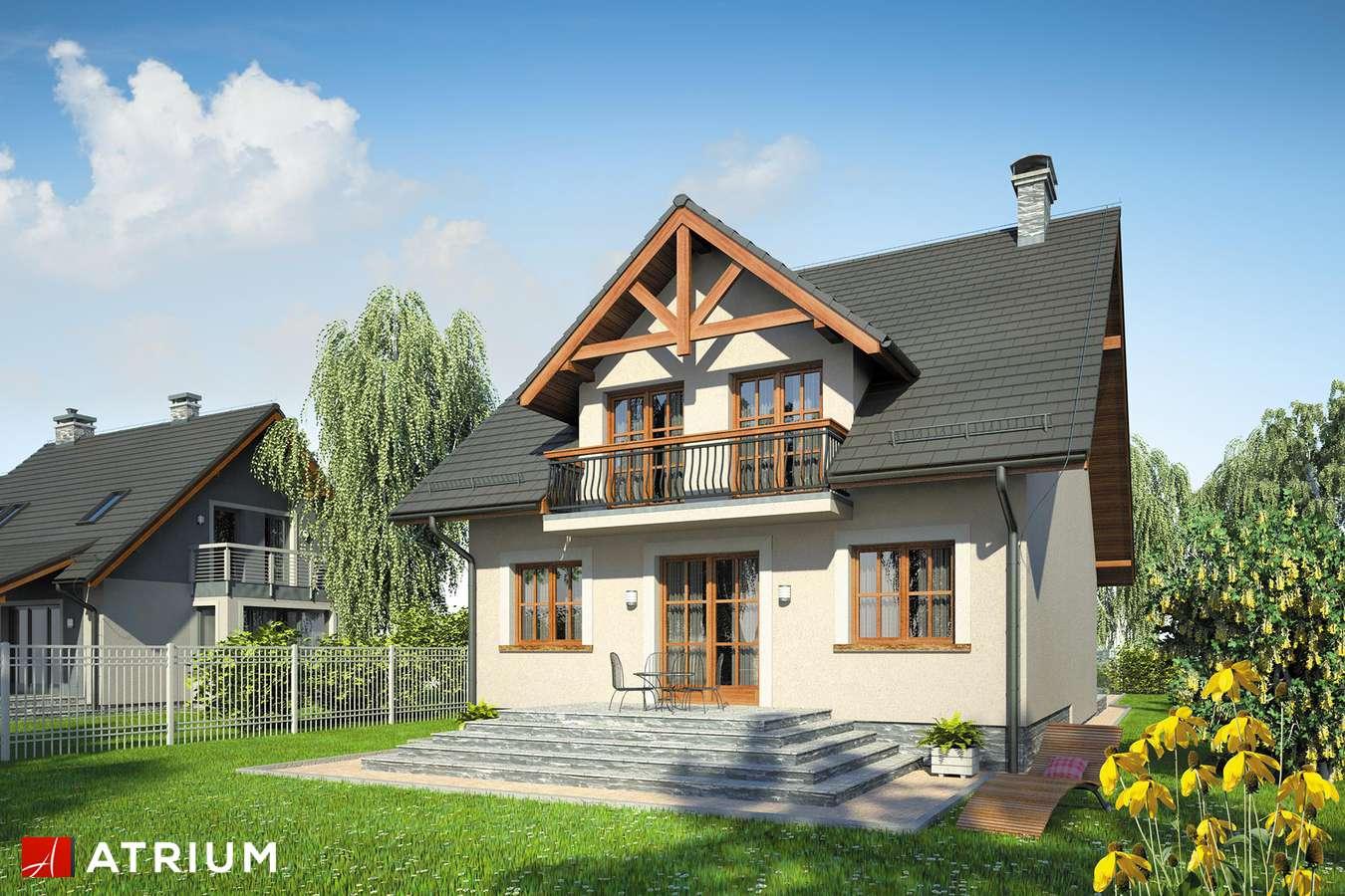 Projekty domów - Projekt domu z poddaszem KANON II - wizualizacja 2 - wersja lustrzana