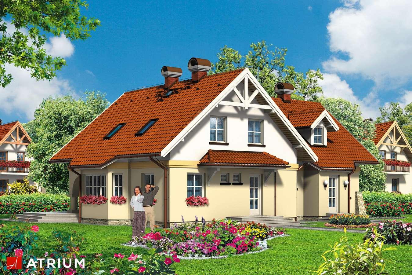 Projekty domów - Projekt domu z poddaszem NASZA RADOść - wizualizacja 1