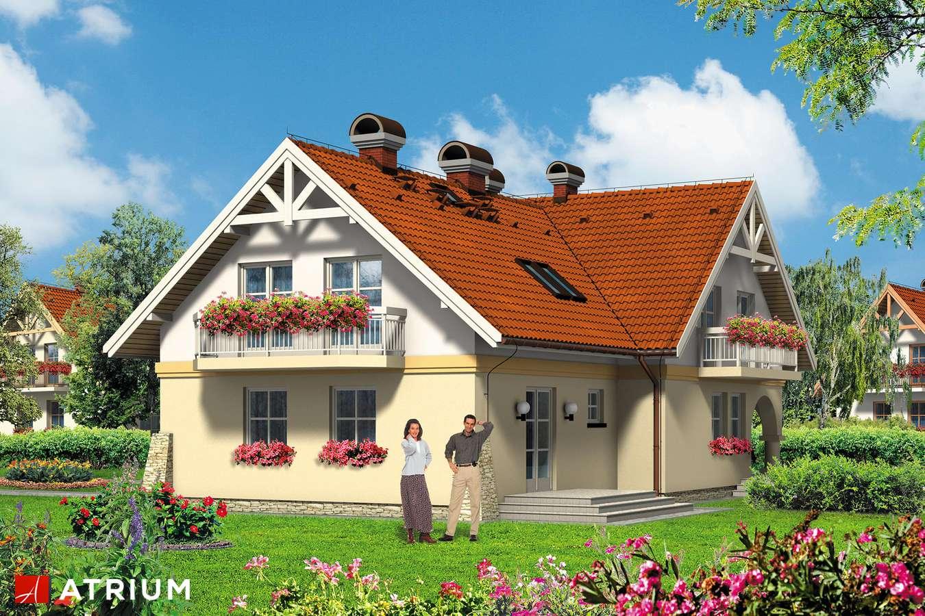 Projekty domów - Projekt domu z poddaszem NASZA RADOść - wizualizacja 2