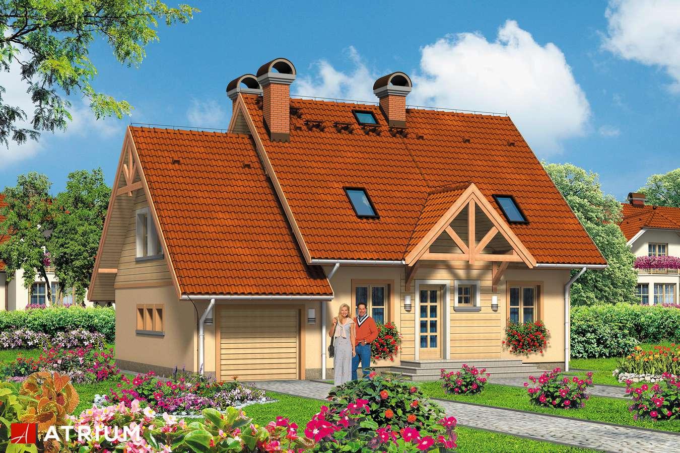 Projekty domów - Projekt domu z poddaszem EWA - wizualizacja 1