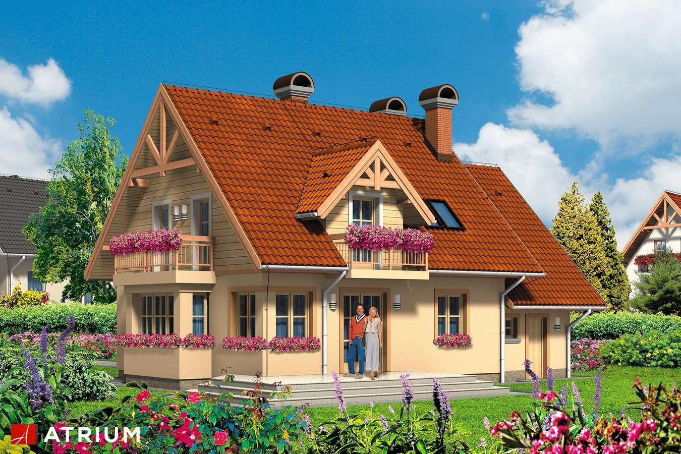 Projekty domów - Projekt domu z poddaszem EWA - wizualizacja 2
