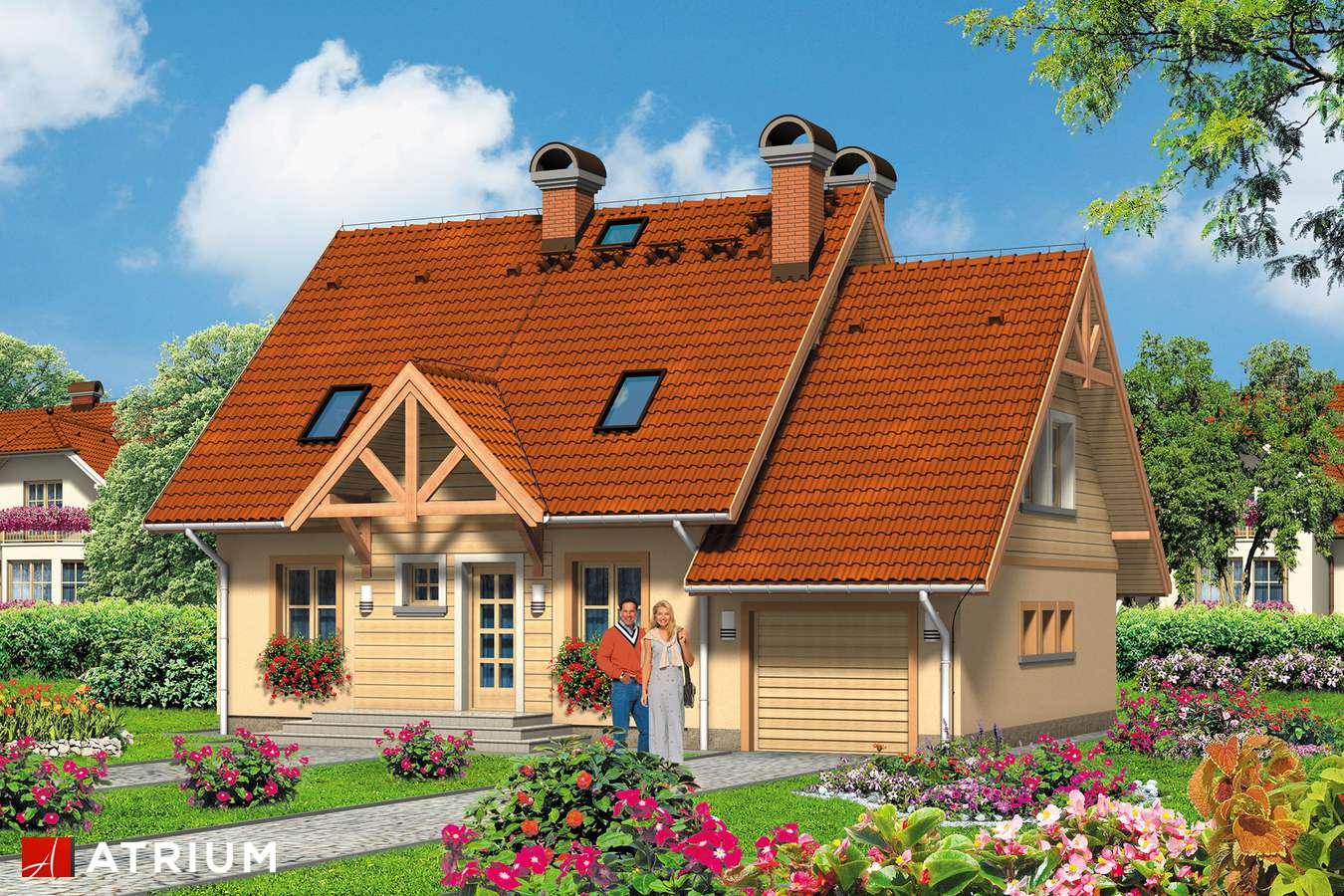 Projekty domów - Projekt domu z poddaszem EWA - wizualizacja 1 - wersja lustrzana