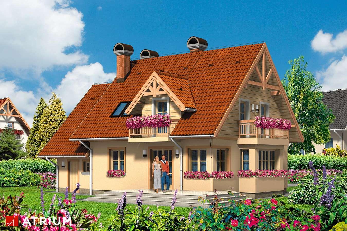 Projekty domów - Projekt domu z poddaszem EWA - wizualizacja 2 - wersja lustrzana