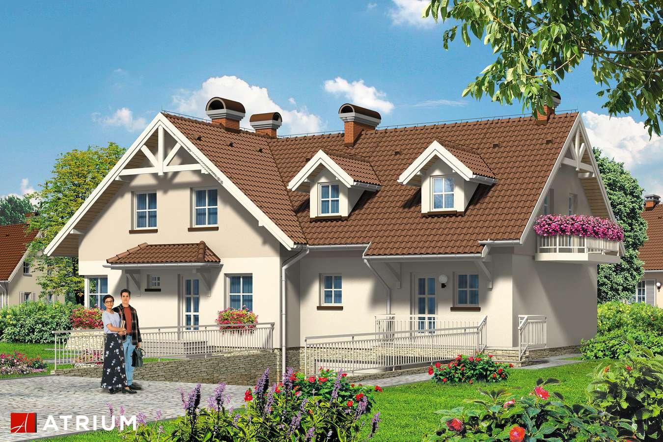 Projekty domów - Projekt domu z poddaszem DOBRA PARA - wizualizacja 1