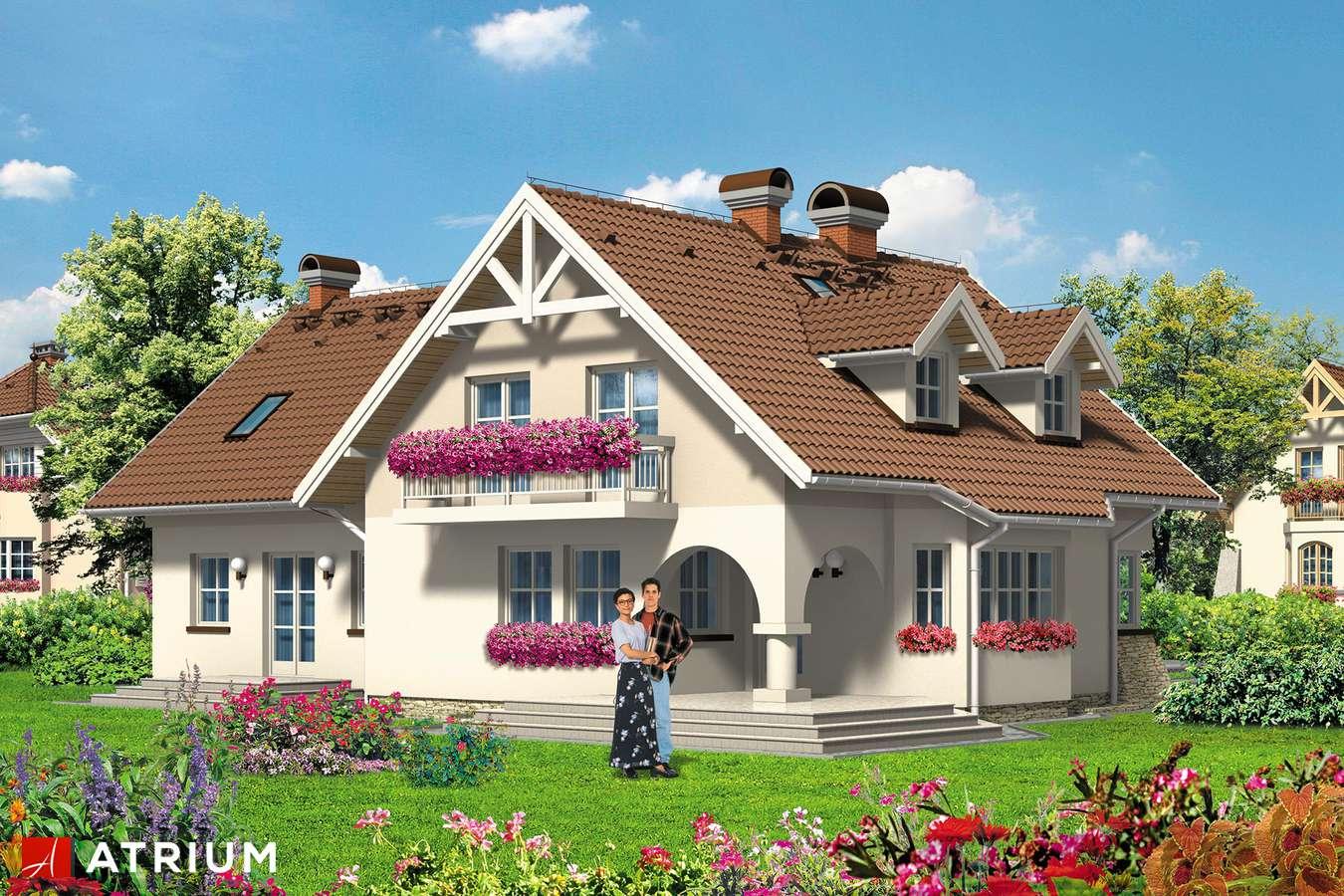 Projekty domów - Projekt domu z poddaszem DOBRA PARA - wizualizacja 2