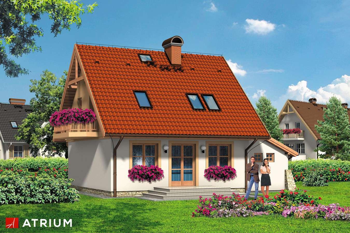 Projekty domów - Projekt domu z poddaszem LUTEK - wizualizacja 2