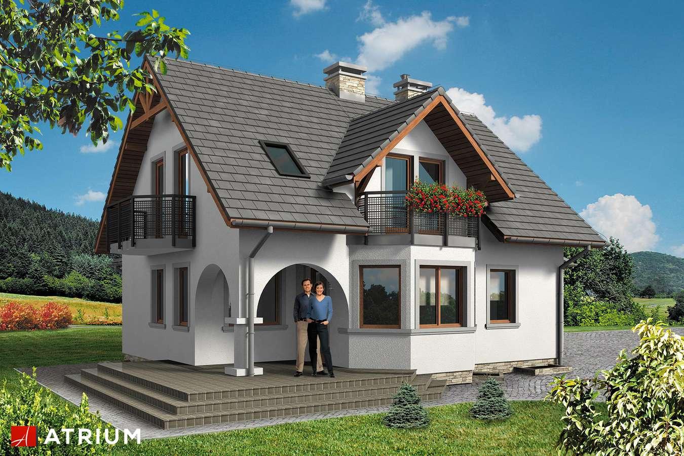 Projekty domów - Projekt domu z poddaszem PERłA BIS - wizualizacja 1