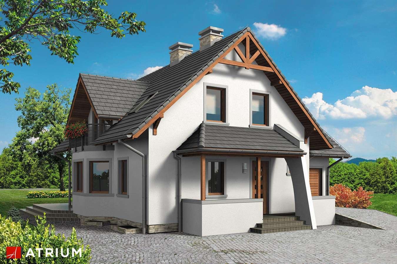 Projekty domów - Projekt domu z poddaszem PERłA BIS - wizualizacja 2