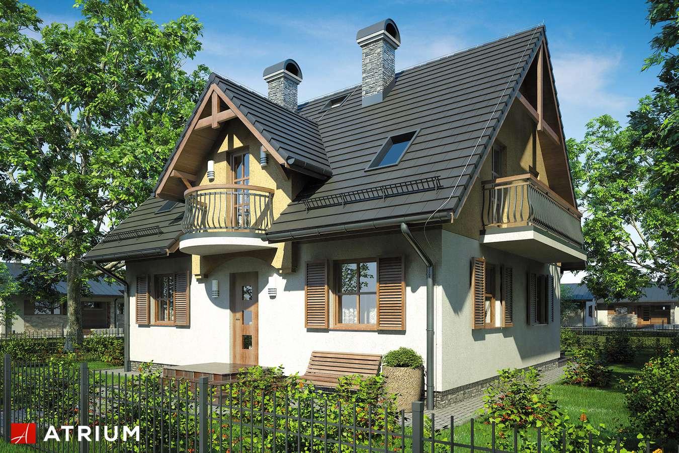 Projekty domów - Projekt domu z poddaszem ZOJA - wizualizacja 1