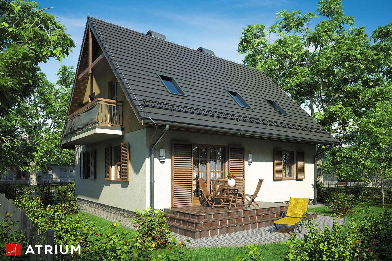 Projekty domów - Projekt domu z poddaszem ZOJA - wizualizacja 2
