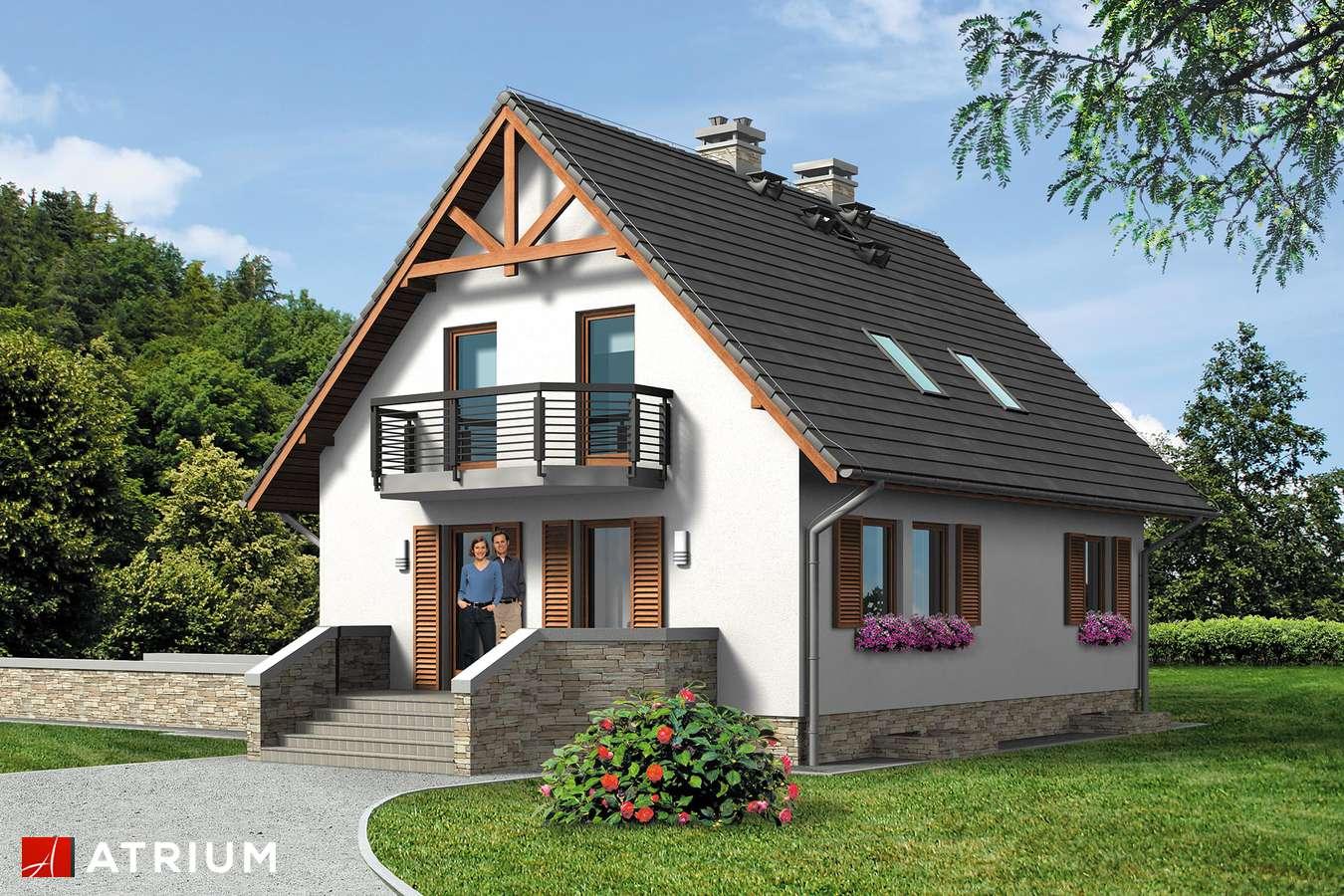 Projekty domów - Projekt domu z poddaszem RUMIANKOWA CHATA BIS - wizualizacja 2