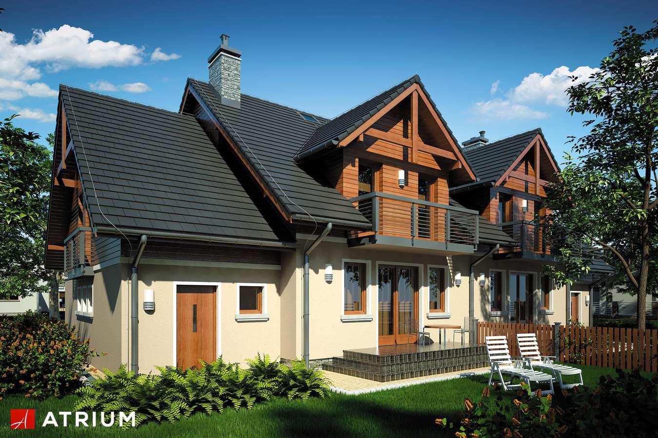 Projekty domów - Projekt domu z poddaszem ZGRANY DUET - wizualizacja 2