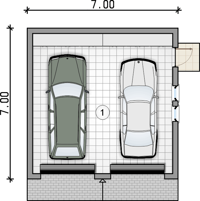 rzut garażu - Garaż Z 30