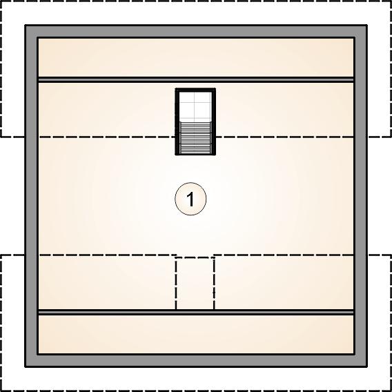 rzut poddasza - Garaż Z 30