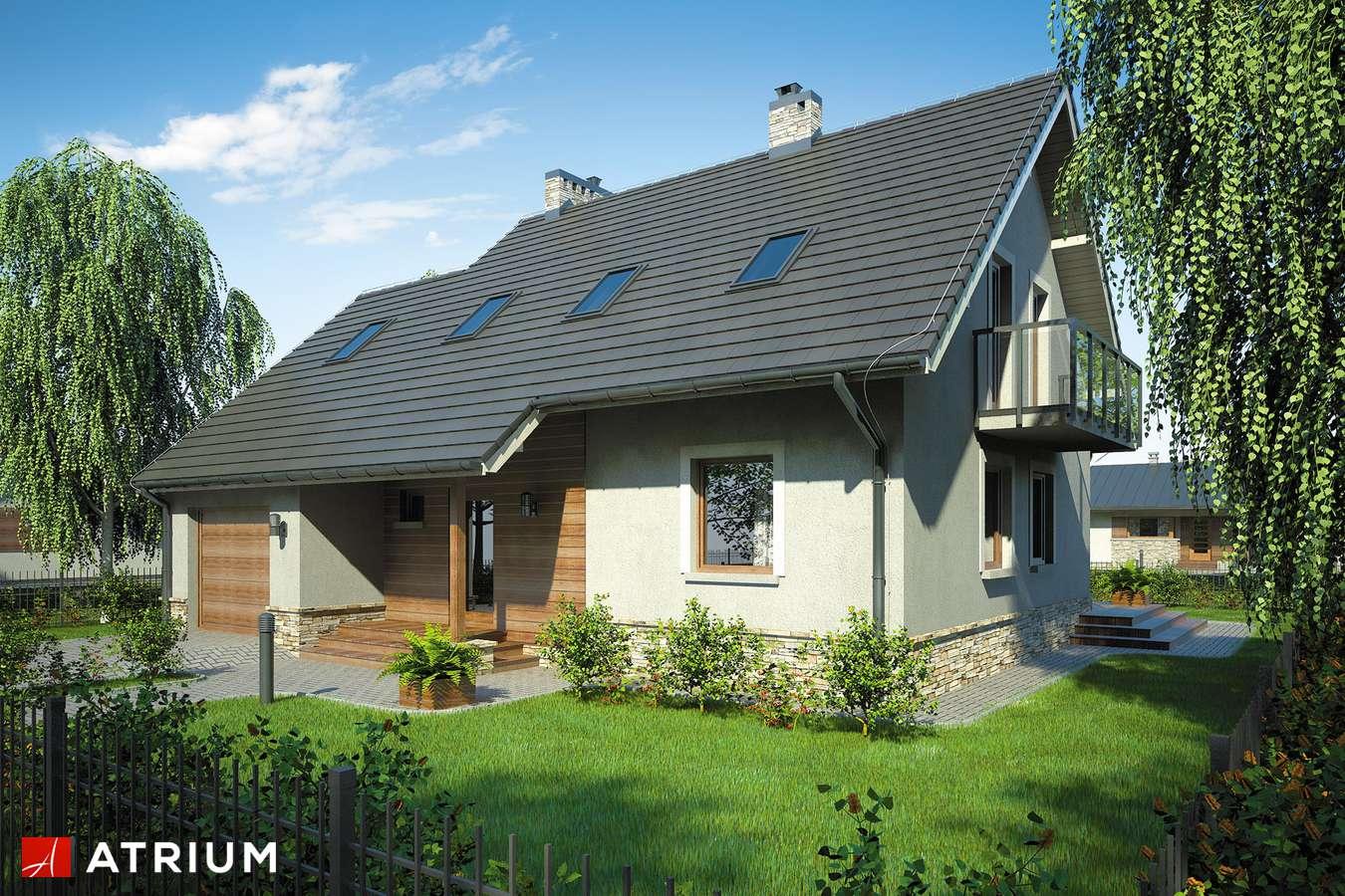 Projekty domów - Projekt domu z poddaszem ROLEKS BIS - wizualizacja 1